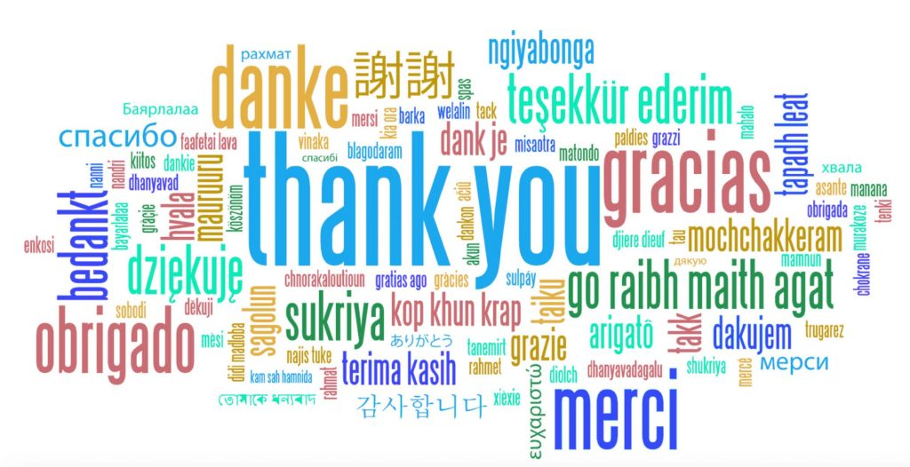 Thank You (many languages)